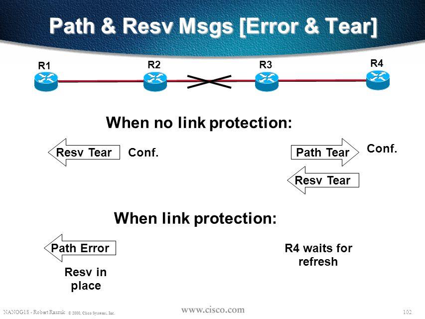 Path & Resv Msgs [Error & Tear]